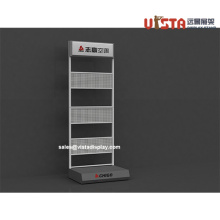 Mobile+Perforated+Sheet+Display+with+Sign+Holder