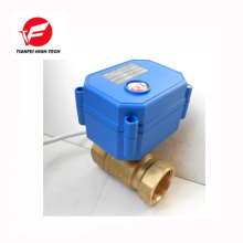 3.6v-6v 5v 110v 230v DN8 DN10 DN15 válvula de esfera motorizada latão cwx-15q
