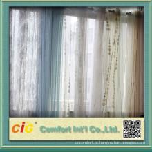 Metade de apagão Organza impresso tecido de cortina