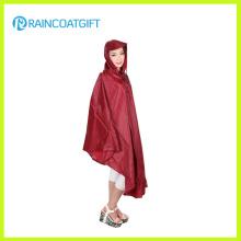 Polyester imperméable de randonnée de camping Poncho de pluie Rpy-032