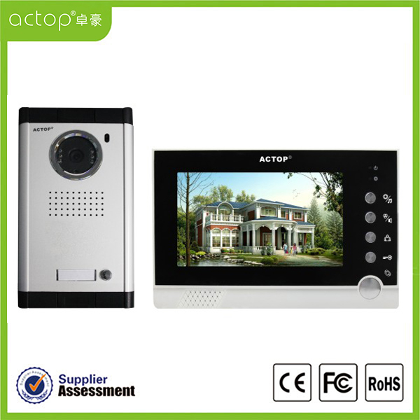 7 inch Color Front Door Camera and Intercom