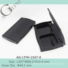 Retro&Elegant Rectangular Compact Powder Case With Mirror AG-LTFH-2167-8, AGPM Cosmetic Packaging , Custom colors/Logo
