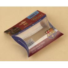 Пластиковая коробка для подарочной упаковки небольшого размера в форме подушки (пакет из ПВХ)