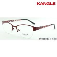 gafas de marco óptico de metal de diseño nuevo marco de gafas