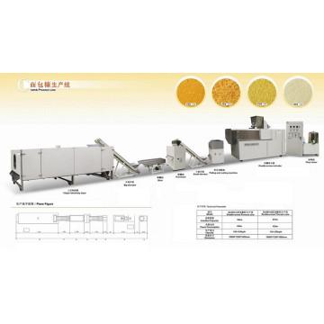 Machine de traitement de la croute du pain / ligne de l'extrudeuse