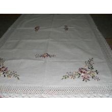 DPF 100% algodón mantel bordado