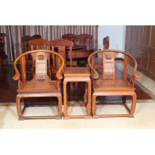 3sets Burma Padauk Palace Chair with Nature and Clearly Grain.