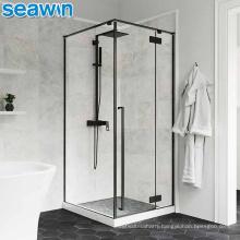 Seawin Custom Seawin Rectangular Cabin Black Shower Door Enclosure Room