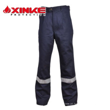 Calças de algodão à prova de fogo para homem de trabalho