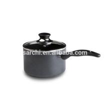 New design Aluminium Saucepan with glass lid