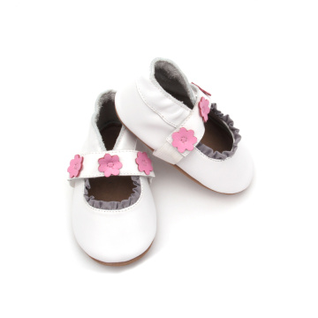 2018 Fancy White Flower Leather Baby Shoes Shoes
