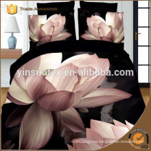 High quality luxury beautiful design 133*72 panne reactive polyester bedding set