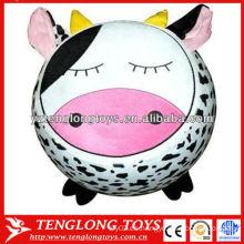 Taburete hinchable inflable lindo popular de la historieta de la forma de la vaca de la historieta