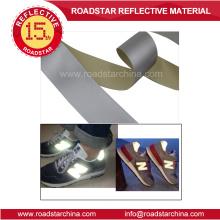 Mode Material hohe silberne reflektierende PVC Schaum Leder