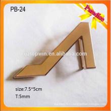 PB24 Подгонянный 5cm черный стандартный сплав металла мужчин контактный кожаный ремень пряжки