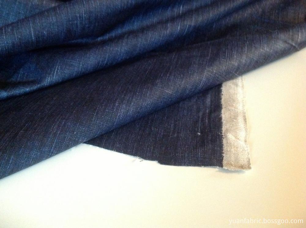 Beautiful Denim Cotton Waxed Rain Coat Jacket Fabric