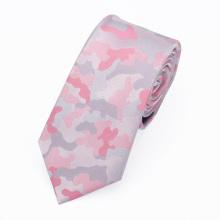 Baratos por atacado poliéster tecido camuflagem rosa senhoras gravatas
