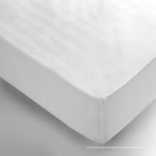 Hotel Bed Set Deep Pocket Stretch Branco Cabido Fitted Folha (WSFI-2016019)