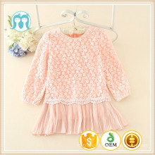 casual vêtements d'automne pour les enfants belle manches longues dentelle vêtements d'hiver enfants causales simples robes