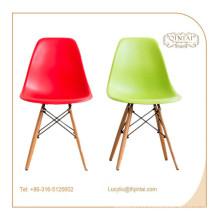Chaise de loisirs de salon en bois massif de hêtre en plastique de style hêtre