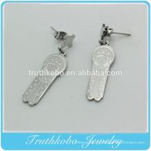 Top qualité nouvelle mère sereine christianisme religieux accessoire en acier inoxydable bijoux vierge marie pendentif boucles d'oreilles pour les femmes