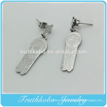 Top Quality New Serene Mother religious christianity accessory stainless steel jewelry Virgin Mary Pendant earrings for women