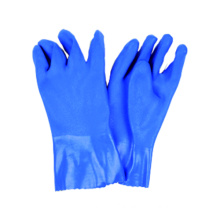 Interlock Liner Work Glove with PVC Dipped, Sandy Finished