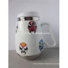 fashionable product wholesale alibaba china double wall stainless steel magic ceramic mug