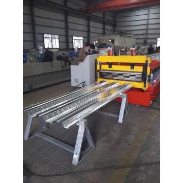 Galvanized steel floor deck roll membentuk mesin