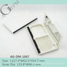 Rechteckige kompakte Pulver Fall/Compact Powder Container mit Spiegel AG-DM-1067, AGPM Kosmetikverpackungen, Custom Farben/Logo
