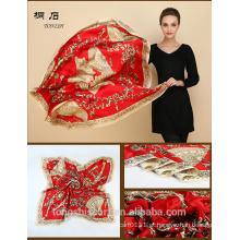 SA429 seda vestido logotipo impressão lenço de seda 100% seda hijab xale e scarvessupplier alibaba china