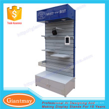 retail store single sided hardware tool metal floor display stand for exhibition