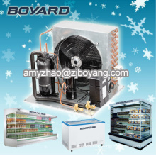 r22 r404a hermetic compressor condensing unit water to air for commercial refrigerator produce supermarket island refrigerator