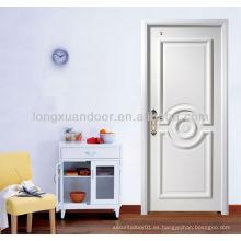 Puerta blanca del dormitorio, puerta de madera de calidad con HDF y Venner natural