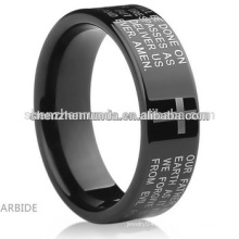 2015 New Cheap Wholesale Men Stainless Steel black plated Ring