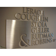 Brushed Finish Stainless Steel Channel Letter Sign