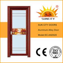 Single Swing Bathroom Glass Aluminum Doors (SC-AAD020)