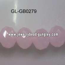 opaque roundel glass bead-pink
