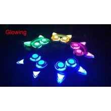 Comercio al por mayor LED de colores que destellan los auriculares del oído del gato de los auriculares
