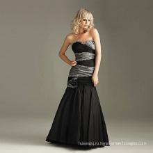 Модное черное свадебное платье