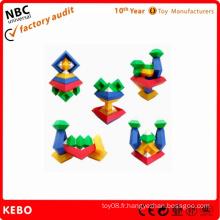 Jeux de blocs éducatifs plastiques