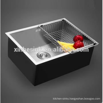 Handmade16G/18G Zero Radius Stainless Steel SUS 304 Single Bowl Kitchen Sink