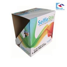 Vente chaude papier présentoir en carton corrugatedpdq boîte de papier pour le bâton de selfie