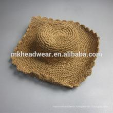 2015 promotional wide brim straw hat