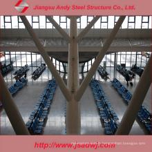 Structure en treillis en acier galvanisé Construction d'un toit d'aéroport