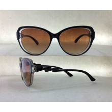 Brand New designer de óculos de sol de moda plástica para mulheres / Lady P25030