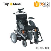 Cadeira de rodas reclinável de aço motorizada de tipo europeu com lâmpada