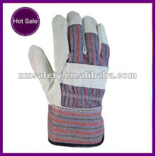 Cotton back safety rigger working gloves for hand protection ZMR109