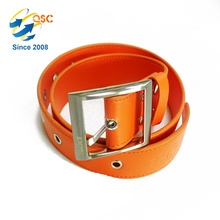 Wholesale Custom Belt Yellow with Metal holes and Belt Buckle