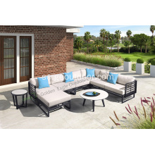 New design garden sofa with HPL table top